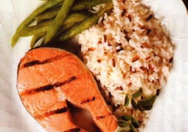 طبق الأرز والسمك