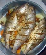 صينية سمك القاروص فى الفرن